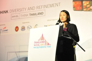 Director Vichada Giving her speech in the Opening Ceremony of Thailand Week 2015