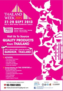 Thailand Week 2013 Sept